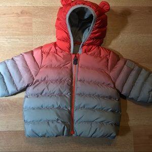 Baby Gap Puffer Winter Jacket orange grey